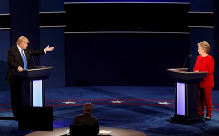 Debate Clinton-Trump foi o mais visto de sempre